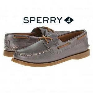 {BOGO} Sperry Top-Sider Gray Metallic Loafers